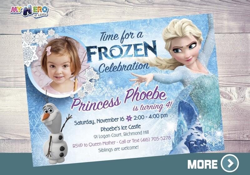 Frozen Photo Invitation. Frozen Birthday Invitation. 274