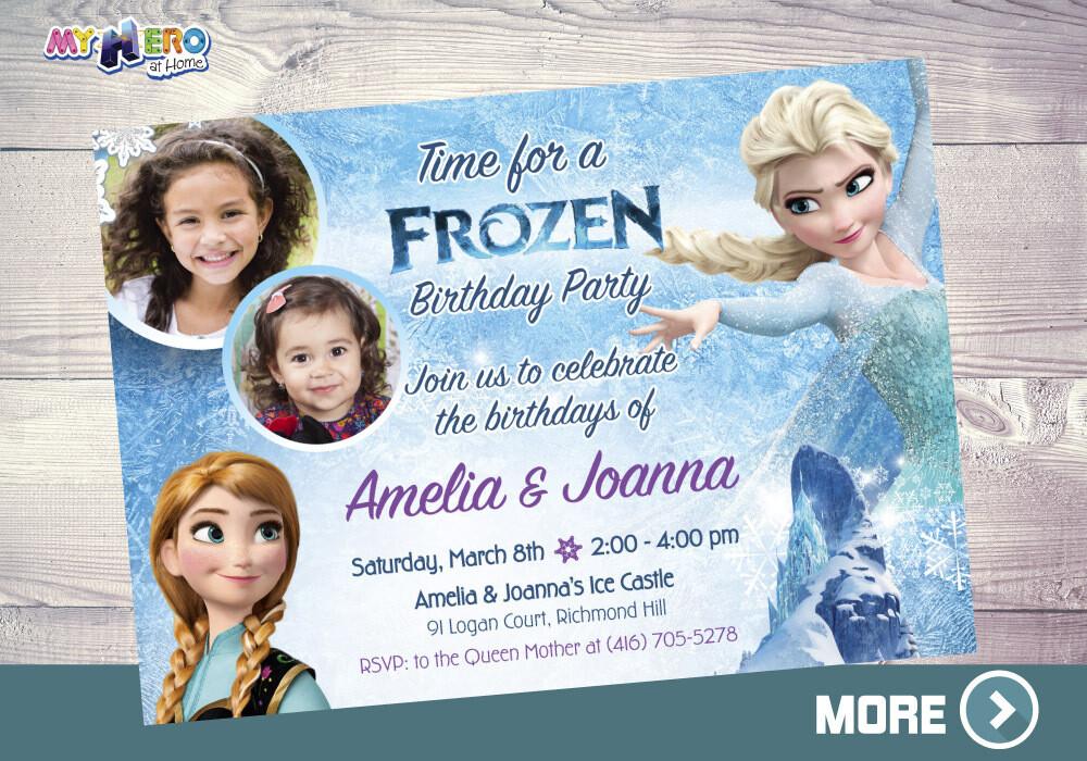 Joint Frozen Invitation. Siblings Frozen Invitation. 277