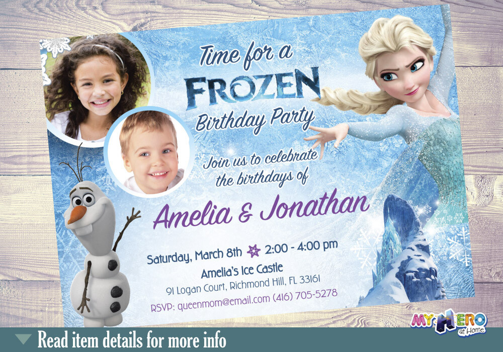 Siblings Frozen Invitation. Joint Frozen Invitation. 280
