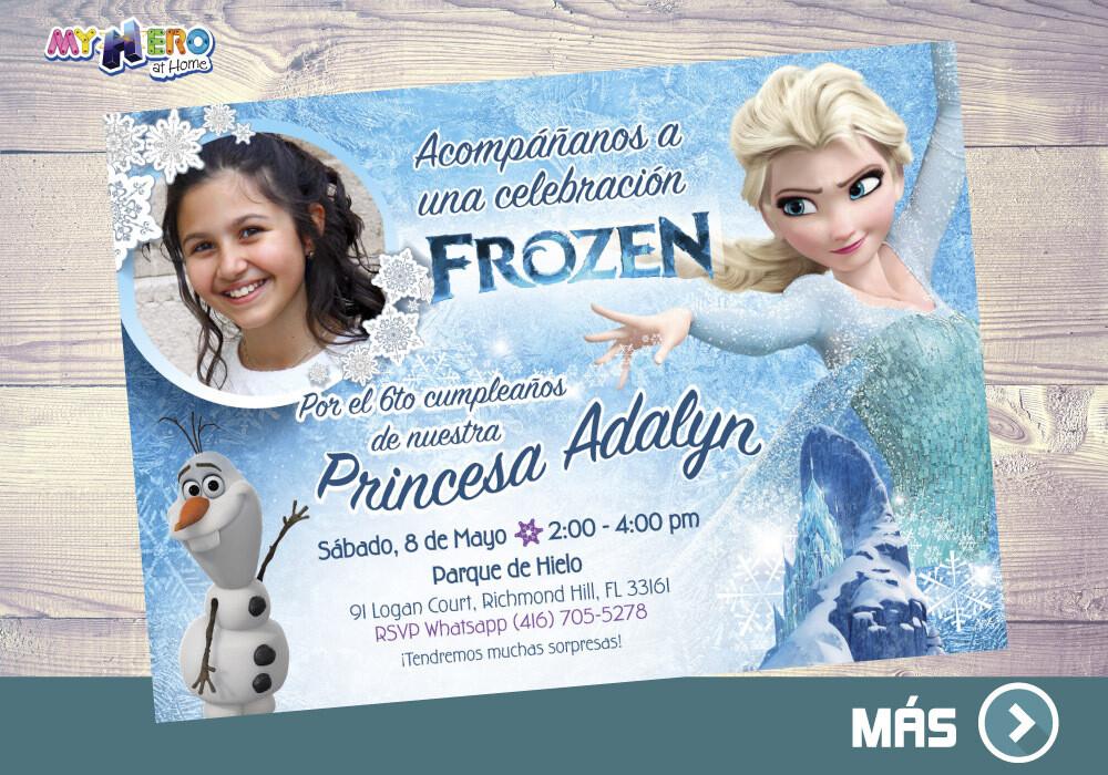 Frozen Invitación. Fiesta tema Frozen. Invitación Frozen Elsa. 281SP