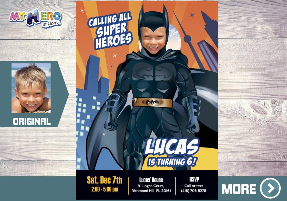 Batman Party Invitation. Batman Birthday Ideas. 215