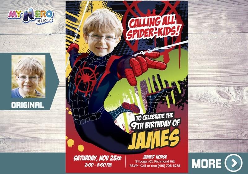 Miles Morales Birthday Invitation, Miles Morales Party, Spider-Verse Birthday, Spider Verse Party, Miles Morales Digital. 400
