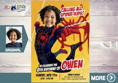 Spider-Verse Party, Spider Verse Invitation, Spider-Man Party, Spider-Verse Birthday, Miles Morales Invitation, Miles Morales Party, 401