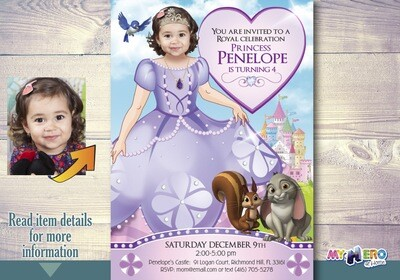 Princess Sofia Birthday Invitation. Princess Sofia Party Ideas. Turn your little girl into Princess Sofia. Fiesta tema Princesa Sofia. 263