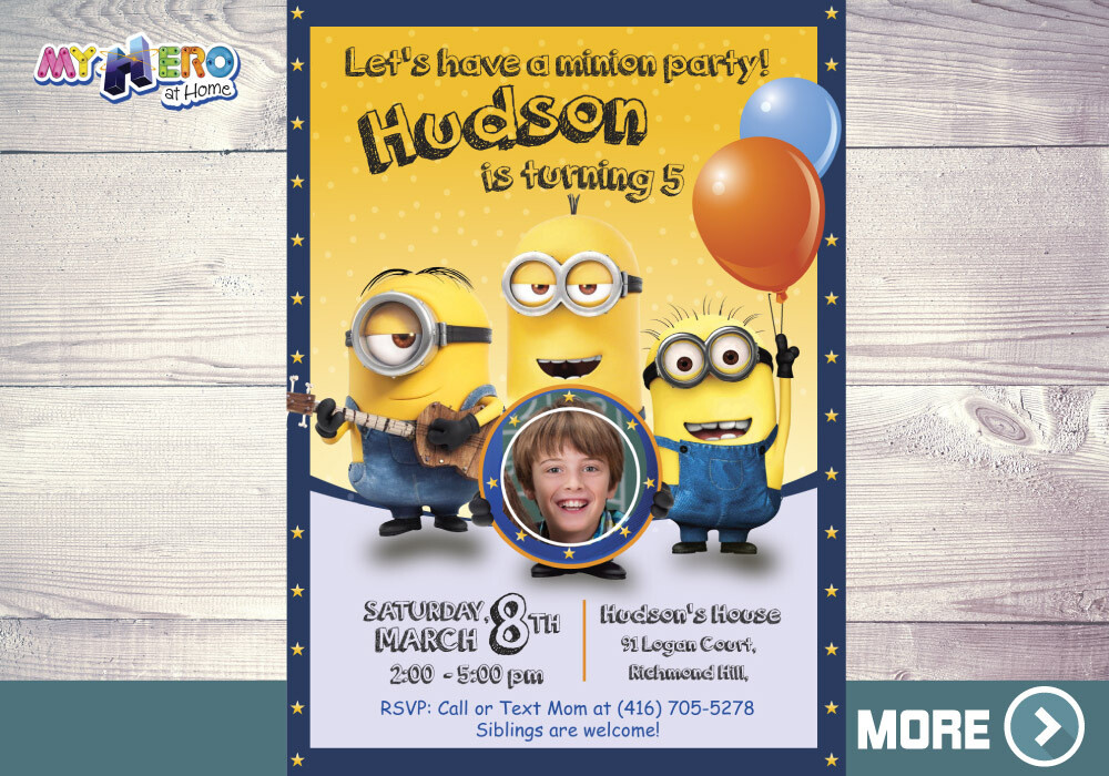 Minions Birthday Invitation, Minions Virtual Party, Minions Birthday Parade, Minions Digital Invitation, Minions Drive By. 045