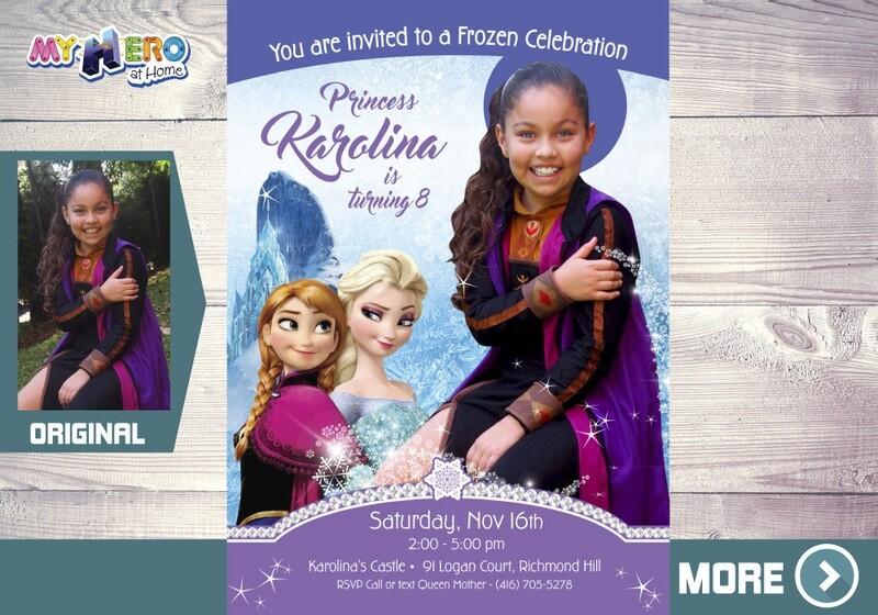 Frozen Invitation with your child as Anna. Frozen Photo Invitation. Anna Birthday Ideas. 269B