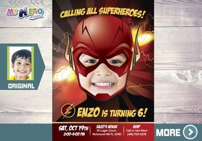 Flash Birthday Invitation, Flash theme party, Get here in a Flash Birthday, Flash Party, Flash Digital, Flash Virtual, Flash Drive-By. 084
