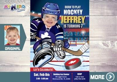Toronto Maple Leafs Invitation. Toronto Maple Leafs Birthday Party. 308