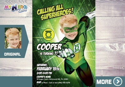 Green Lantern Invitation. Green Lantern Birthday. Green Lantern Party. Green Lantern Costume. Turn your boy into the Green Lantern. 168