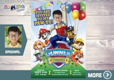 Paw Patrol Invitation, Paw Patrol Party, Paw Patrol Birthday, Paw Patrol Digital Invitation, Fiesta de la Patrulla Canina. 377