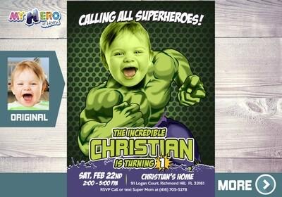 Hulk 1st Invitation. Hulk First Birthday. Baby Hulk Birthday. Avengers 1st Birthday. Superhero 1st Birthday. Baby Hulk Party Decor. 089B