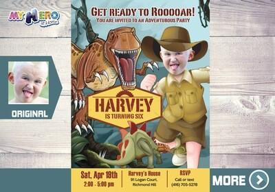 Dinosaurs Invitation. Dinosaurs Birthday Party. 207