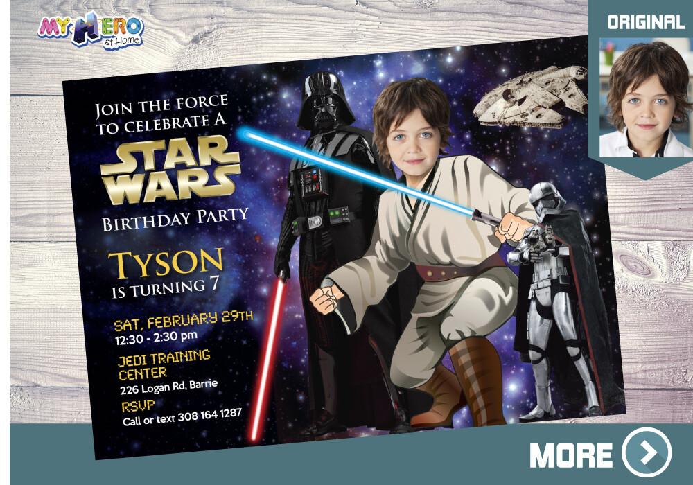 Star Wars Birthday Invitation. Turn your kid into a Jedi. Star Wars Party Ideas. Jedi Birthday Invitation. Party theme Star Wars. 005