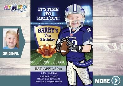 The Dallas Cowboys Invitation. Dallas Cowboys Party. 421