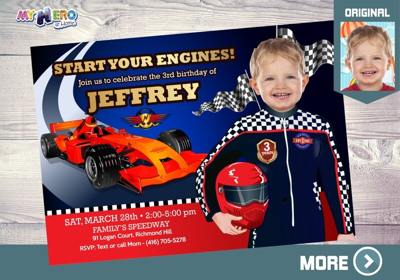 Race Car Birthday Invitation, Race Car Digital Invitation, Sports Car Birthday, Race Car Virtual, Race Car Birthday parade. 318