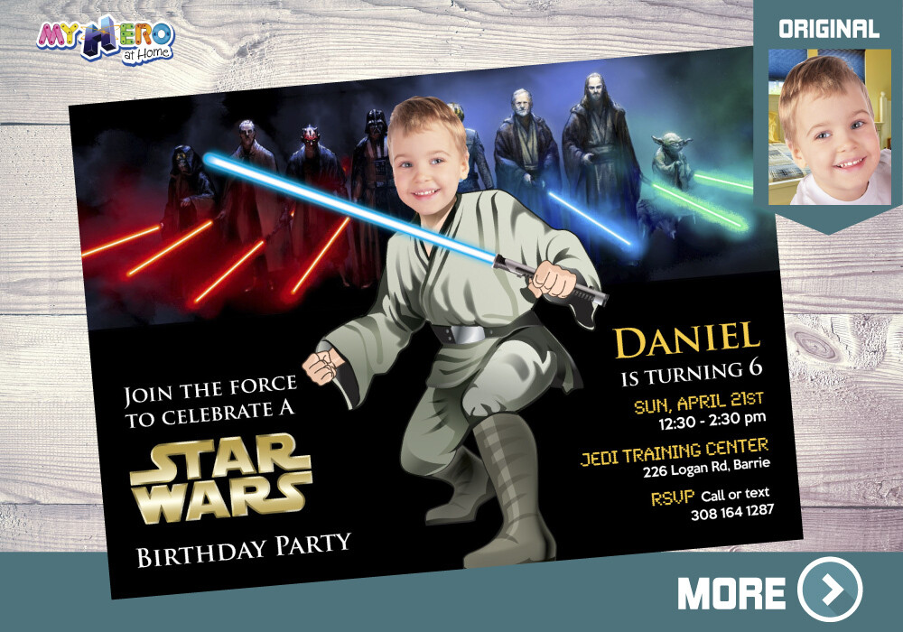 Star Wars Bday Invitation, Jedi Party Invitation, Star Wars Party, Jedi digital invite, Star Wars digital, Star wars themed-party. 013