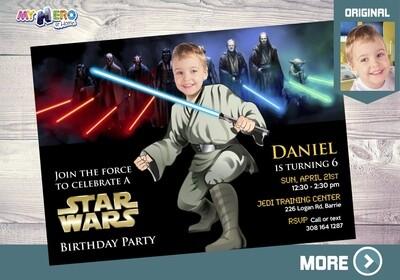 Star Wars Invitation. Jedi Party Invitation. Turn your little boy into an awesome Jedi. Star Wars Party Ideas. Jedi Birthday Ideas. 013
