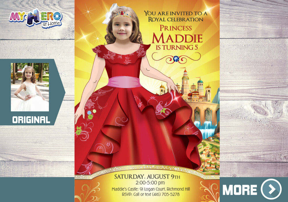 Elena of Avalor Invitation. Princess Elena of Avalor Party. Princess Elena of Avalor Birthday. Fiesta tema Princesa Elena de Avalor. 246