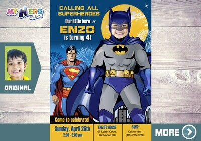 Batman Birthday Invitation. Turn your boy into Batman. 062