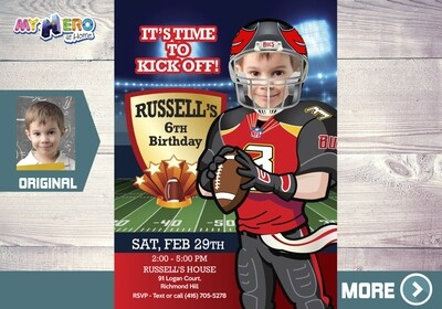 Tampa Bay Buccaneers Invitation. Tampa Bay Buccaneers Party. 422