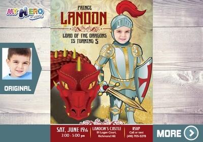 Medieval Knight Birthday Invitation, Dragons Drive By Birthday, Dragons Virtual Birthday, Knights Digital Invitation. 218