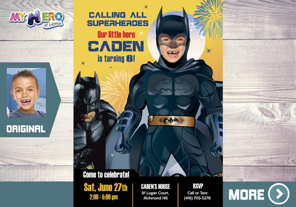Batman Invitation. Batman Party. Turn your boy into Batman. 063