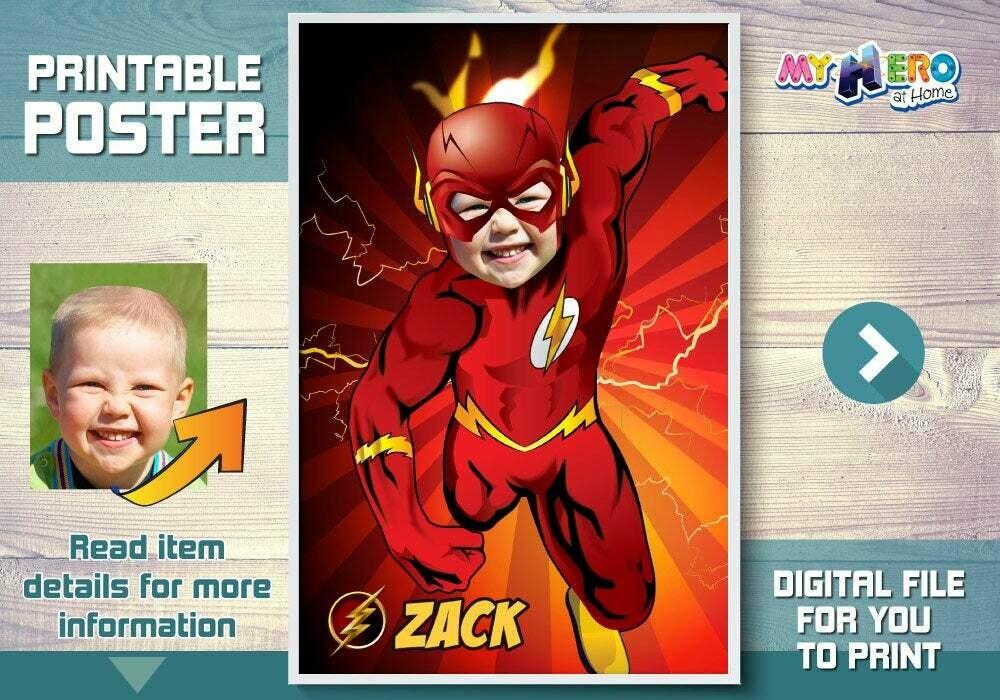 Flash Poster, Flash Room Decor, Flash Wall Decor, Flash Art, Flash Backdrop, Flash Decal, Flash party Decor, Flash Birthday theme. 371