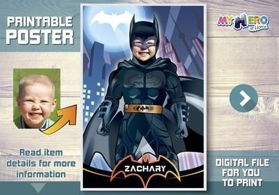 Batman Poster, Batman Room Decor, Batman Wall decor, Batman Backdrop, Batman decal, Custom Batman Poster, Batman Decor, Batman Gifts. 370