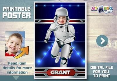 Stormtrooper Poster, Dark Side Poster, Stormtrooper Room Decor, Stormtrooper Fans, Stormtrooper Wall Decor, Stormtrooper Gifts. 362