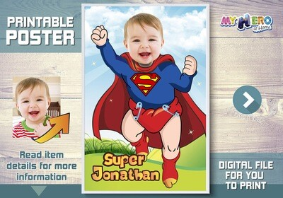 Baby Superman Poster, Baby Superman Room Decor, Baby Superman Wall Decor, Baby Superman Gifts, Baby Superman Nursery. 368