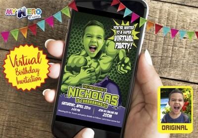 Hulk Virtual Birthday Invitation. Hulk Virtual Party. Hulk Online Birthday. Hulk Social Distance. Hulk Drive By. Hulk Birthday Parade. 089CV