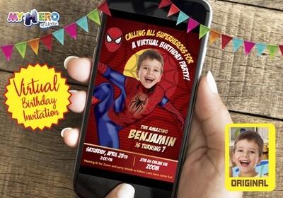 Spider Man Virtual Invitation. Spider Man Virtual Birthday. Spider-Man Virtual Party. Spider-Man Drive By. Spider-Man Birthday Parade. 102CV