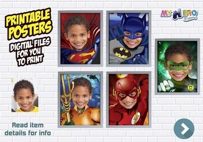 Posters of Superman, Batman, Aquaman and Flash, Justice League Posters, Superheroes Wall Decor, Justice League Decor, Superheroes Gifts. 411B