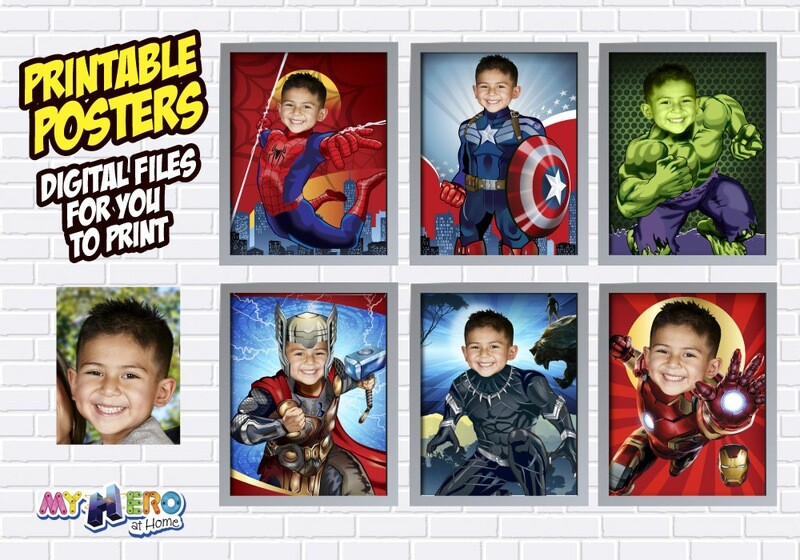 Avengers Posters of Hulk, Spiderman, Ironman, Thor, Captain America and Black  Panther. Avengers Decoration. Avengers Gifts Fans. 412B
