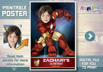 Iron Man Poster, Iron Man Decoration, Iron Man Backdrop. Iron Man Gifts, Custom Ironman Poster, Iron Man Wall. 429