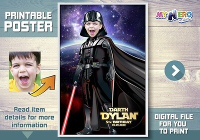 Darth Vader Poster, Star Wars Dark Side Poster, Dark Side Poster, Darth Vader Decor, Darth Vader Gifts, Darth Vader Wall Decor. 431