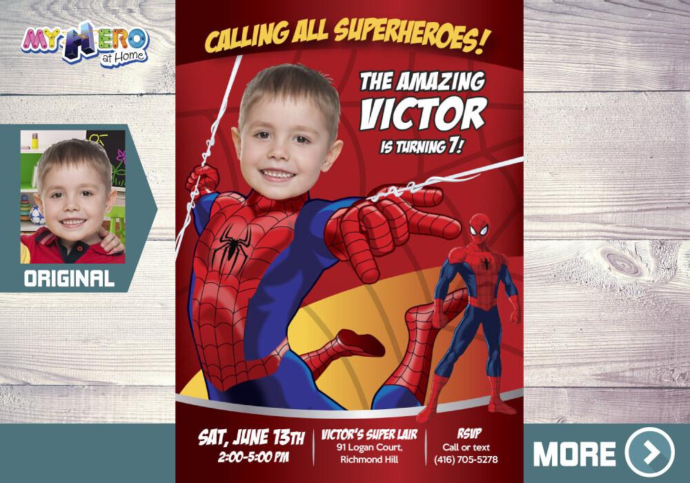 Spiderman Invitation. Spiderman Party. Spiderman Birthday. Spiderman Party Ideas. Hombre Araña Invitación. Spider-Man Invitation. 101
