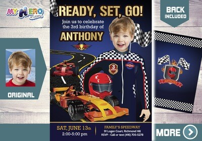 Race Car Birthday Invitation. Racecar Driver Party. Race Car Birthday. Sports Car Party. Race Car Theme party. 440