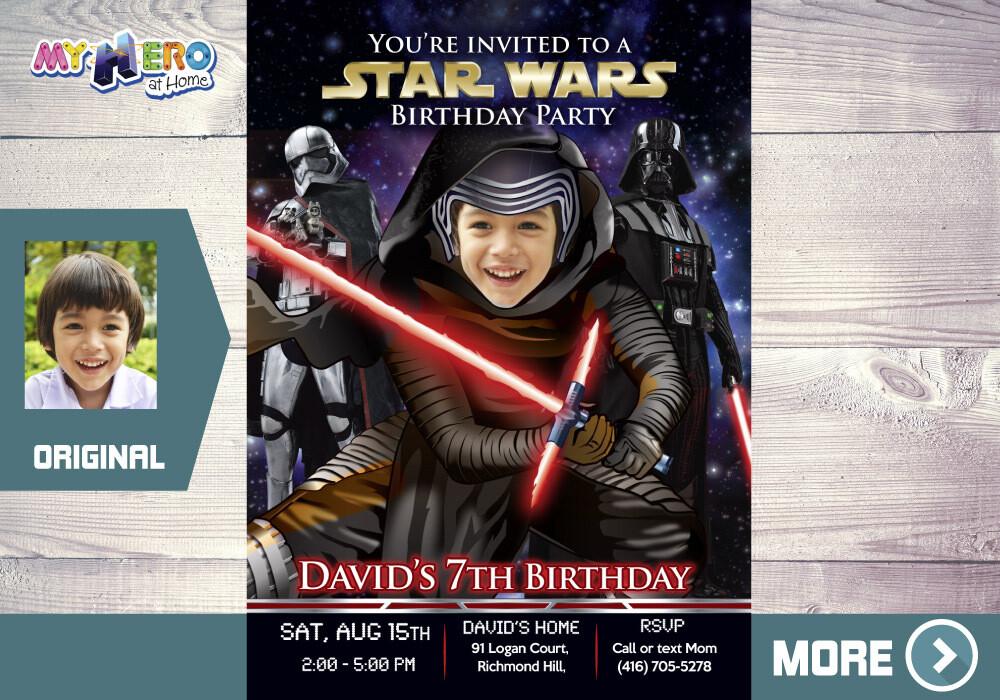 Kylo Ren Party Invitation. Star Wars Dark Side Birthday. Dark Side Party Invitation. Kylo Ren Birthday Invitation. Kylo Ren Theme Party. 457