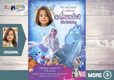 Frozen Birthday Invitation. Frozen Photo Invitation. Frozen 2 Party Invitation. Frozen Water Horse Invitation. 458