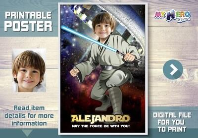 Star Wars Poster, Star Wars Room Decor, Star Wars Wall Decor, Jedi Poster, Star Wars Party Decor, Jedi Decor, Jedi Party Decor. 344