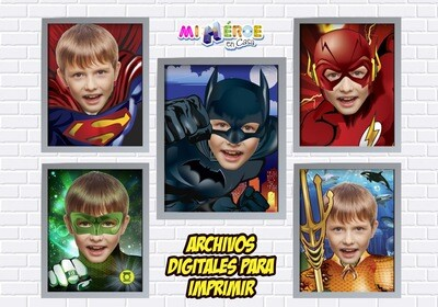 Afiches de Superhéroes. Afiches Personalizados de Batman, Superman, Flash, Aquaman y Linterna Verde. Decoración Liga de la Justicia. 411SP