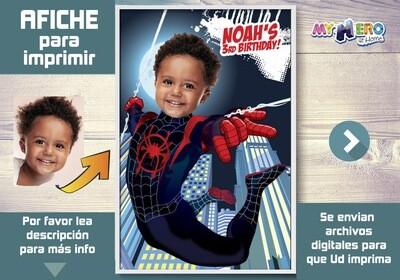 Afiche de Spider Verse. Afiche Personalizado de Spider Verse. Decoración Spider Verse. Fiesta Spider-Verse. Pared Spider Verse. 428SP
