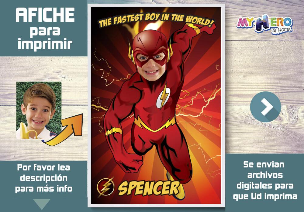 Afiche de Flash. Afiche Personalizado de Flash. Decoración Flash. Fiesta Flash. Pared Flash. 371SP