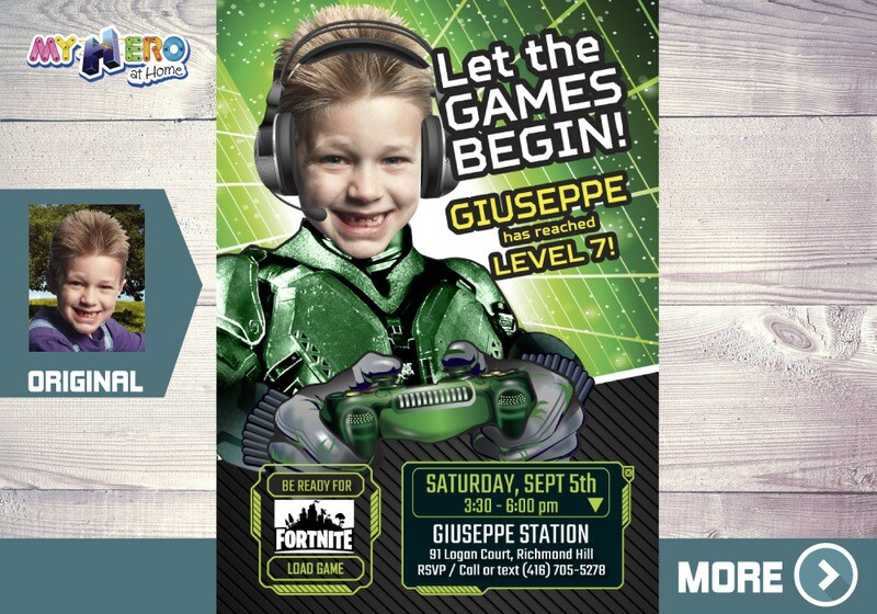 Gamers Party Invitation. Video gamers Theme Party. Game On Birthday Invitation. Video Gamers Birthday. Gamers Digital Invitation. 432C