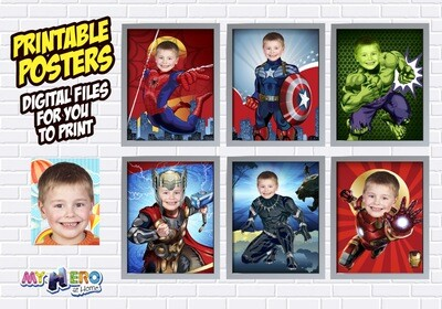 Avengers Posters of Hulk, Spiderman, Ironman, Thor, Captain America and Black Panther, Avengers Decoration, Avengers Gifts Fans. 461