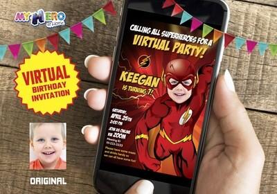 Flash Virtual Birthday Invitation. Flash Online Birthday. Flash Virtual Party. Flash Birthday Parade. Flash Drive By Party. 149CV