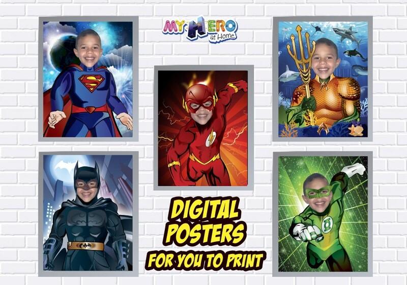 Posters of Superman, Batman, Aquaman, Flash and Green Lantern, Superheroes Wall Decor, Justice League Posters, Justice League Decor. 463