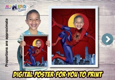 Spider-Man Poster, Spider-Man Decoration, Spider-Man Art, Spider-Man Fans, Spider-Man Gifts, Avengers Decoration, Avengers Gifts Fans. 469