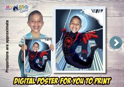 Spider-Verse Poster, Spider-Verse Decoration, Spider-Verse Art, Spider-Verse Fans, Spider-Verse Gifts, Miles Morales Poster. 471